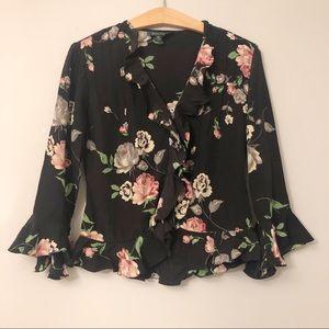 Ralph Lauren Floral Silk Blouse